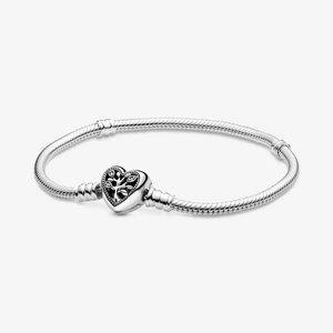 💉Pandora Tree Heart Clasp Snake Chain Bracelet